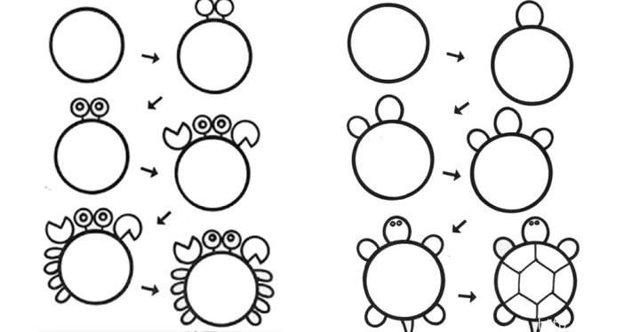 Из простых кружочков учимся рисовать животных!