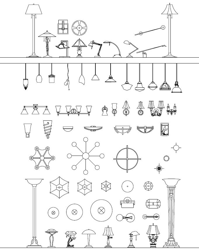 Wall Lamps Dwg : design: lighting symbols Drafting Tips Pinterest Lighting, Design and Symbols