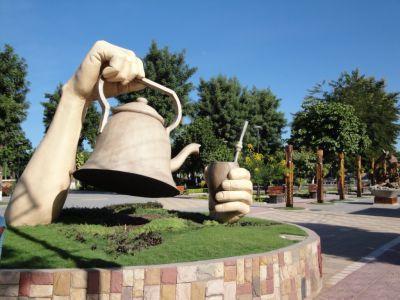 Monumento al mate en el Chaco, Argentina
