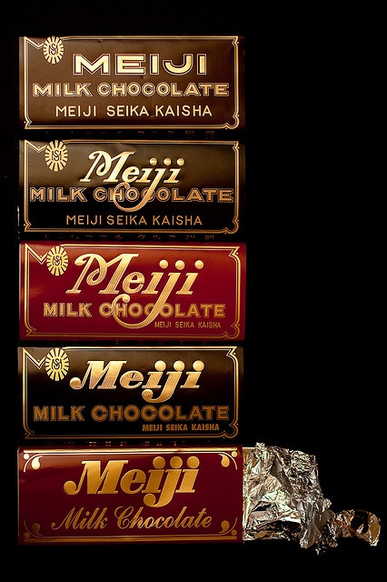 Japanese brand :Meiji Milk Chocolate 明治チョコレート