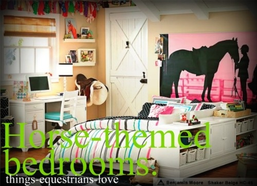 Can i please have this bedroom?????????????????????????Things Equestrians Love  www.thewarmbloodh...