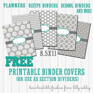 free binder covers printable set printables pinterest binder