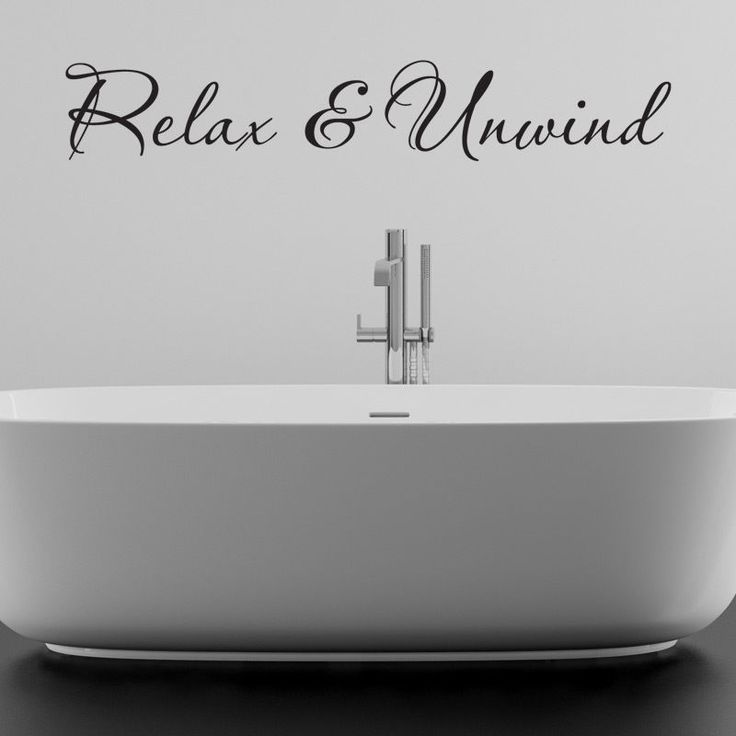 RELAX AND UNWIND BATHROOM WALL STICKER VINYL ART DECAL QUOTES W97 Part 91