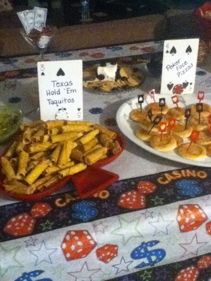 Casino themed party food ideas