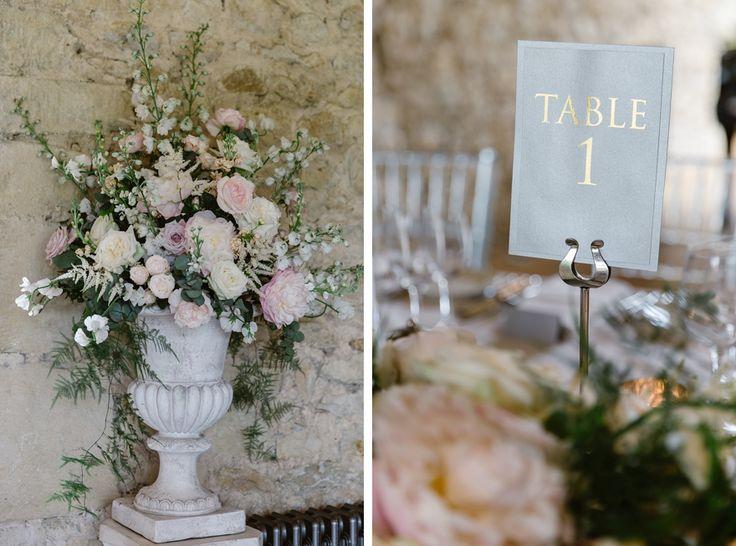 Pedestal urn arrangement for Motley Abbey Wedding.  Image taken by Natalie J Weddings.  Flowers by Wild Orchid