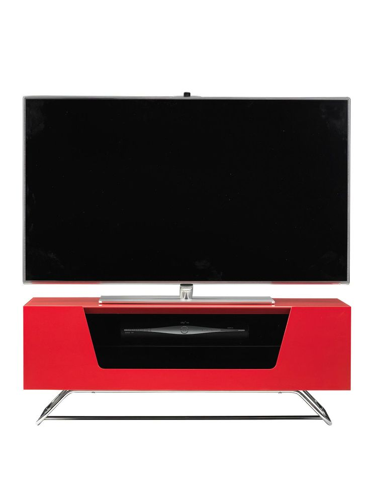 Alphason Chromium TV Stand - fits up to 50 inch TV - Red