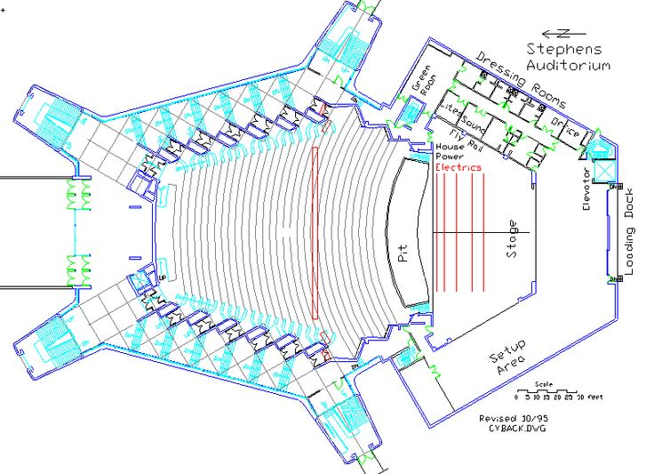 auditorium plan and section - Google Search
