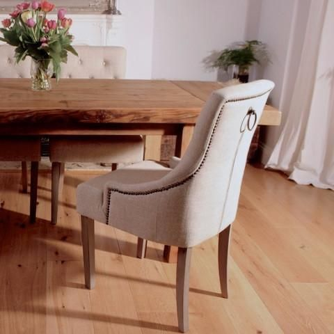 Florence Cream Fabric Dining Chairs Pair