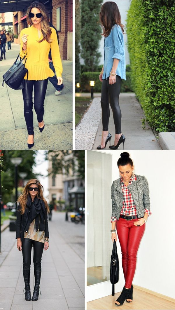 How to style leather leggings.  if i ever break down and wear them, this is how i will wear them.