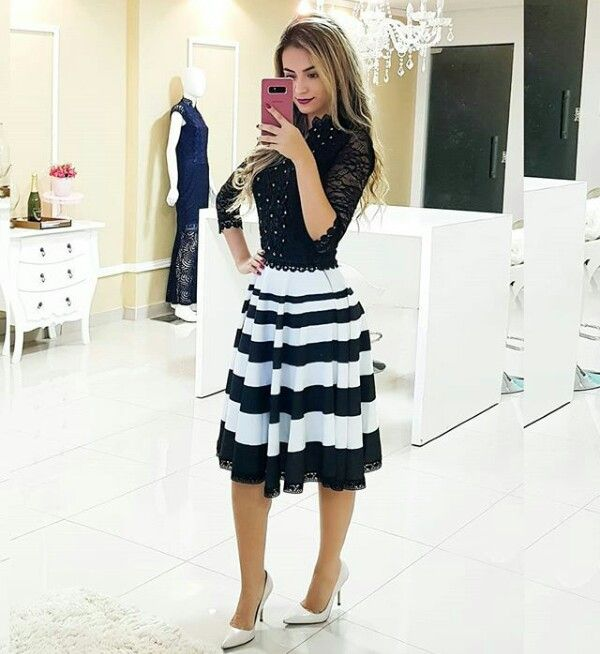 38f532911a Lindo para ir a iglesia ♥ Roupas De Secretária, Crooped Com Saia, Moda