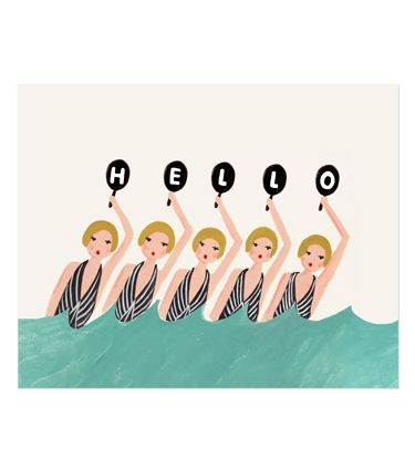 Synchronized Swimmers Print