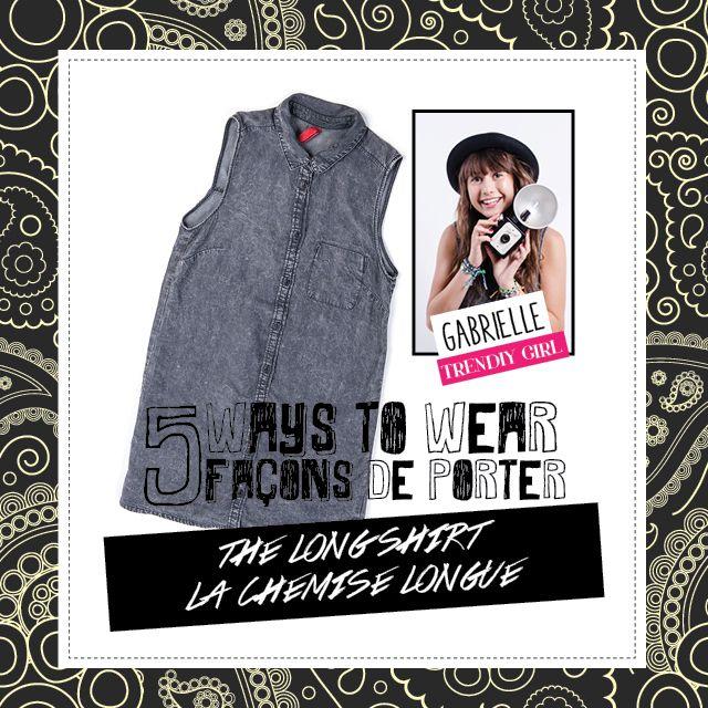 5 ways- The long shirt / la chemise longue