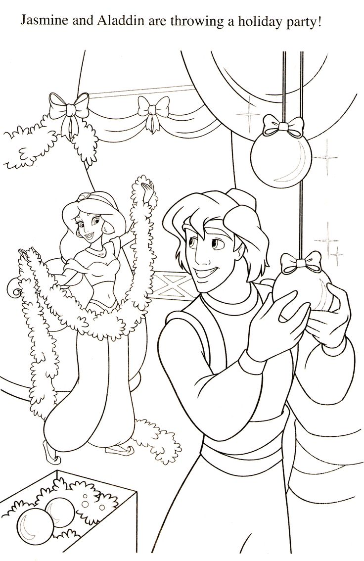 Princess jasmine coloring pages - Disney Coloring Pages
