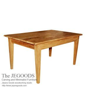 Buy Indonesian furniture dining table at factory price by Jepara Goods Woodworking. Buy furniture teak minimalist dining table Jepara furniture factory.