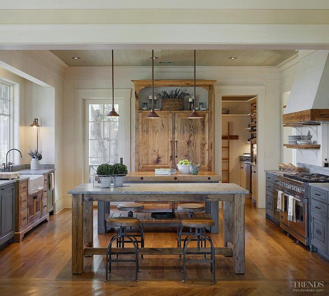 Perfect Rustic Kitchen Lighting and Rustic Cottage With Neutral Interiors Home Bunch Interior