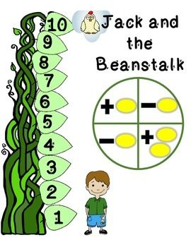 FREE Jack and the Beanstalk Board Game Add and Subtract