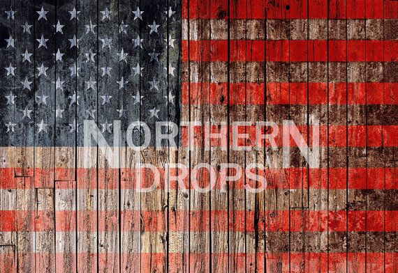 Photography Backdrop American Flag On Wood by NorthernDrops