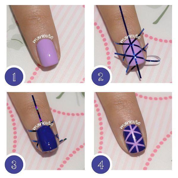 Nail art geométrico paso a paso, ¡una idea fabulosa!                                                                                                                                                                                 Más