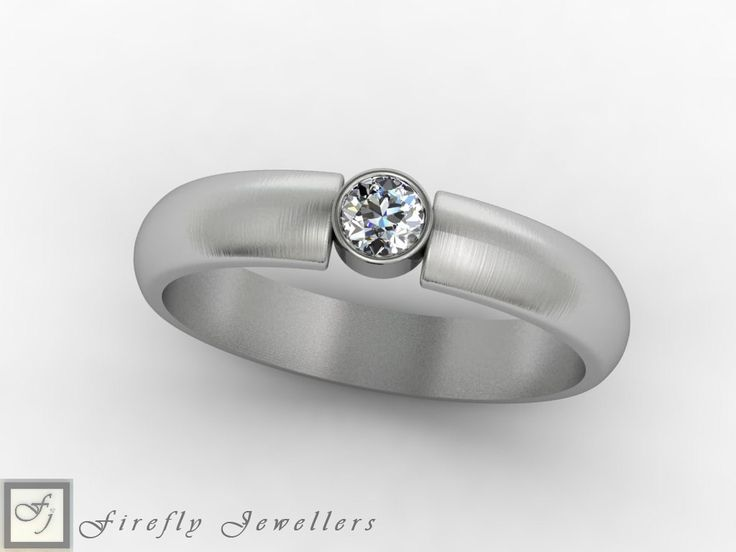 Single diamond engagement ring in white gold. (Source: www.fireflyjewel.co.za)