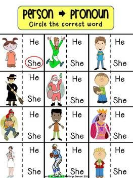 FREE - PARTS OF SPEECH FOR BEGINNERS: PRONOUNS. Repinned by SOS Inc. Resources pinterest.com/sostherapy/.