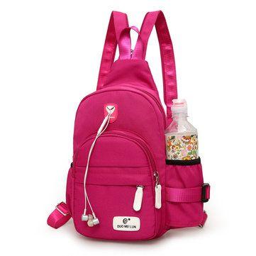 Casual Nylon Lightweight Outdoor Travel Chest Bag Shoulder Bag Backpack For Women