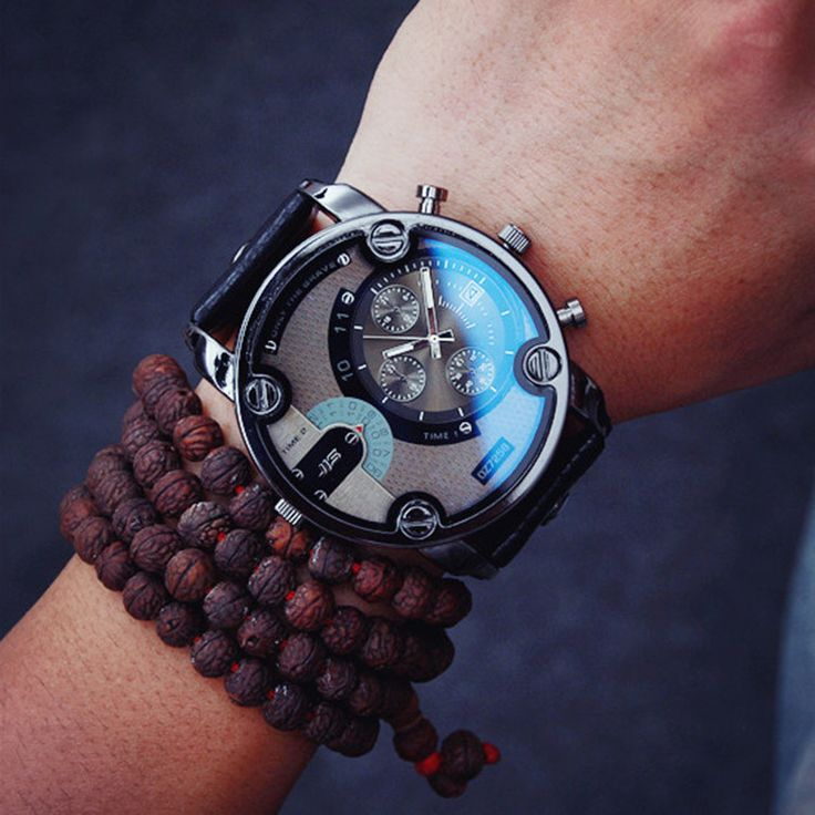 2016 new hot sell watch men fashion big face style quartz watches for men leather straps popular designer mens quartz-watch
