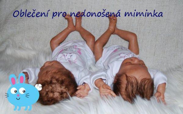 DVOJČÁTKA.CZ - extra obchod pro dvojčata a předčasně narozená miminka | Textil pro nedonošená miminka vel. 32 - 50