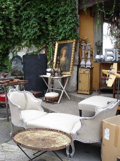 Flea market furniture, French style furniture, shopping tips, Romantic French boudoir furniture The paris apartment book flea market tours