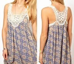 vestidos de verano tela y crochet