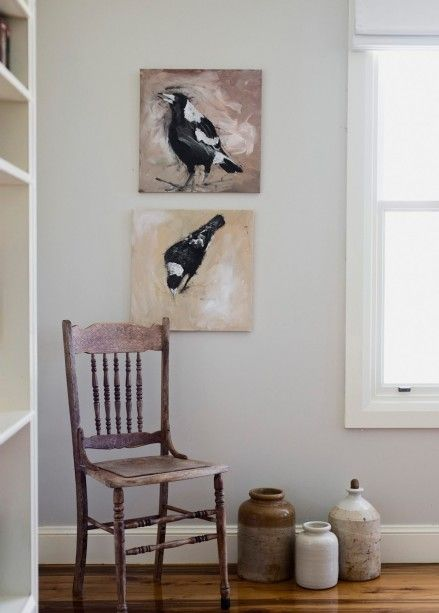 Chair and magpie motif
