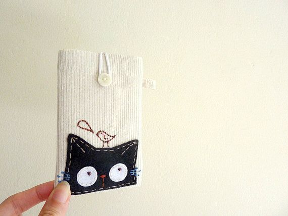 Cat iPhone Case iphone sleeve cat mobile case by dancingintherains, $22.00