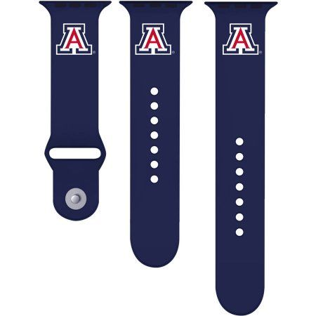 Ncaa Arizona Wildcats 38mm Silicone Sport Band fits Apple Watch, Size: Medium/Large, Multicolor