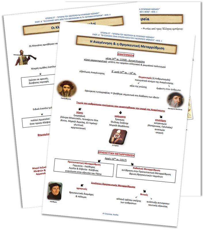 Σχεδιαγράμματα Ιστορίας Στ΄ τάξης Όλα τα σχεδιαγράμματα της Ιστορίας της ΣΤ΄ τάξης σε pdf μορφή, άμεσα για κατέβασμα και εκτύπωση.
