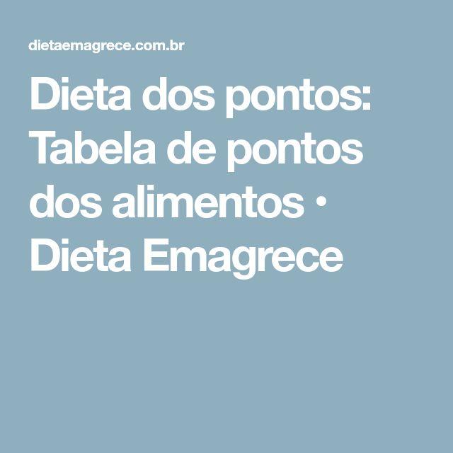 Dieta dos pontos: Tabela de pontos dos alimentos • Dieta Emagrece