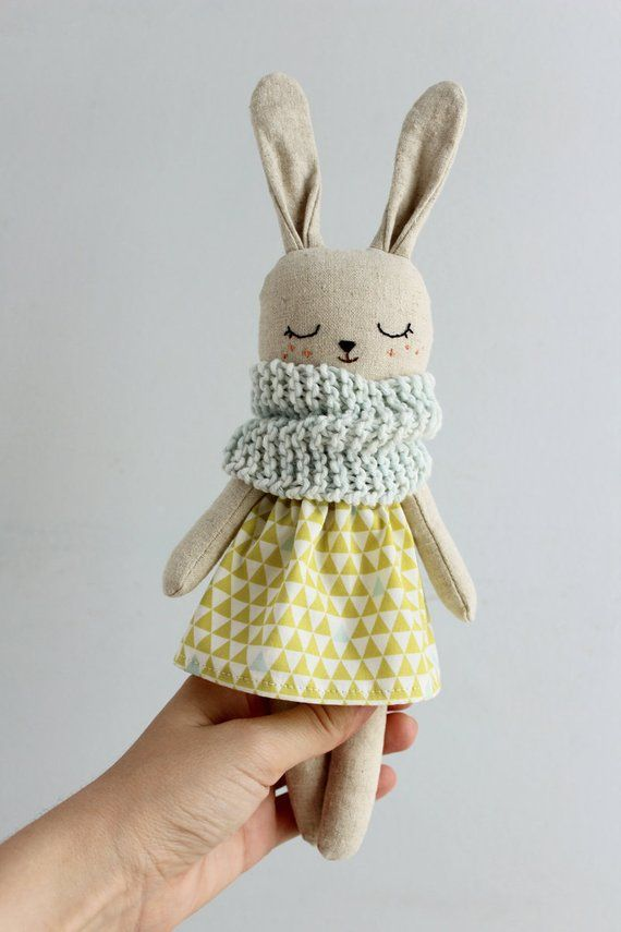 Cloth Doll Animal Toys Linen Toy Fabric Toy Linen Doll Eco Friendly Toys