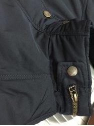 Stand Collar Color Splicing Padded Jacket ODM Designer - BLACK L Mobile