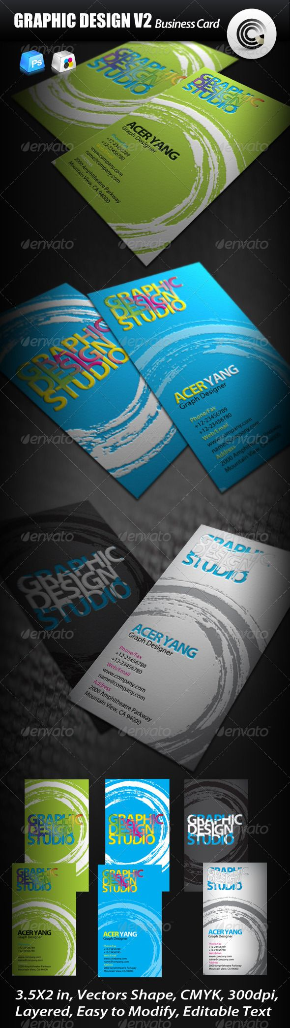 Graphic Design Studio Business Card