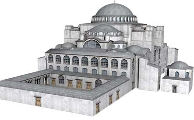 This is the original design of the Hagia Sophia before it was rebuilt by emperor Justinian during the Byzantine Emperor