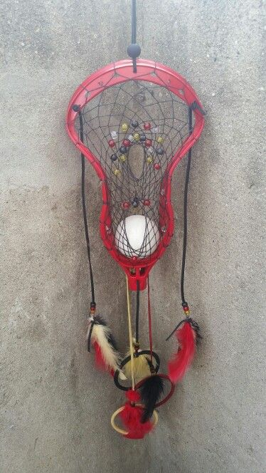 Lacrosse themed dream catcher @dreamweaverhandcrafted