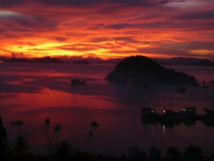 Sunset at Labuan Bajo, Flores.