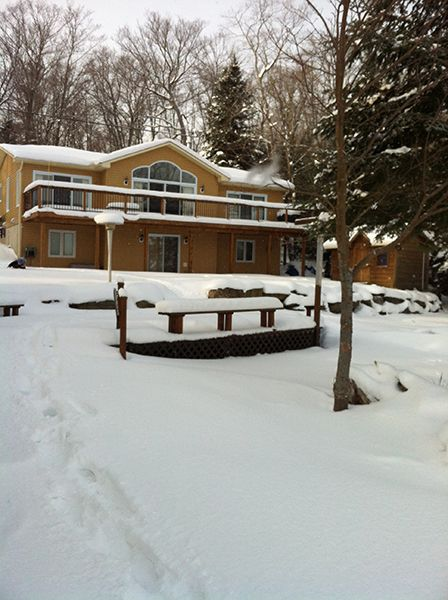 Another winter cottage for you to consider. Haliburton Lake 49 can sleep a total of 12 people, no pets are permitted. Close to snowmobile trails, dog sledding or just sit back and relax. More information on the web page page (Most photos are summer, just imagine snow) See the web page below or for all winter cottages http://www.ontariocottagerental.com/winter_cottage_index%202010.htm