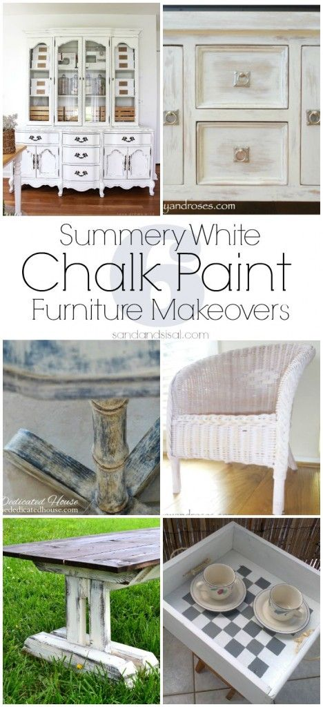 Summery White Chalk Paint Furniture Makeovers