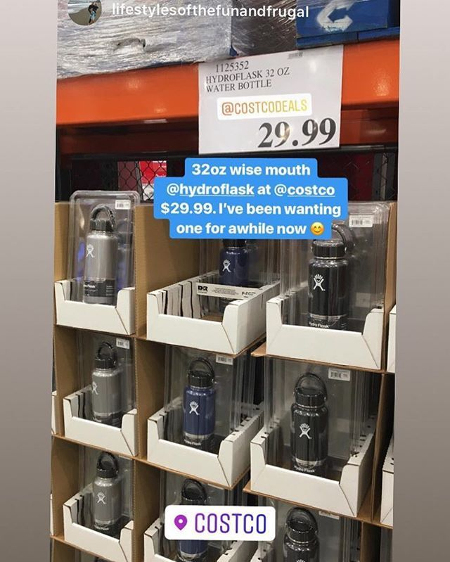 Hydroflask Waterbottles Are Back Only 29 99 Currently In Select Costco Stores Let Us Know If You Have Seen These In Your S Costco Deals Hydroflask Costco