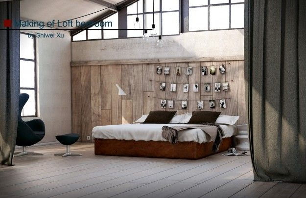 making the bedroom in 3dsmax