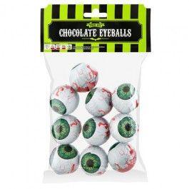 Individually wrapped chocolate eyeballs.