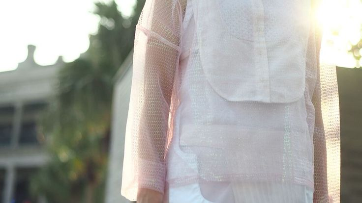TOUCH IT AND FEEL IT! • Sheer Lace Collar • Sheer Tank Top • Pleated Layers  The Layers Shop Online: www.thelayers.org