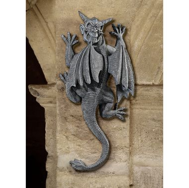 Gargoyle Demon on the Loose Wall Sculpture- So nice I pinned him twice...and then whoops, I deleted him twice. He has returned! What a cute widdle face.