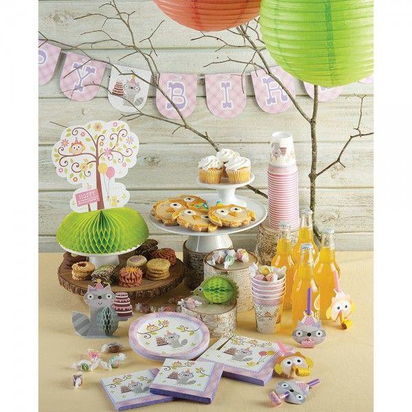 Kleiner Waschbär Rosa Party Deko Idee für die Mädchen Baby Shower Party oder den 1. & 2. Geburtstag