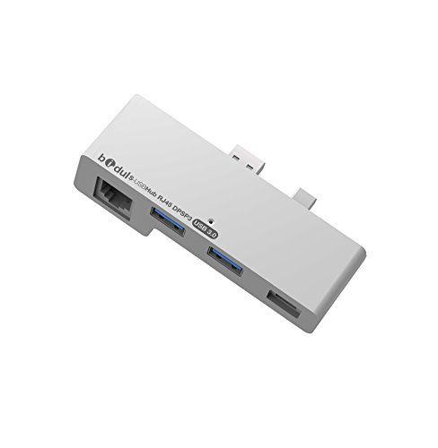 """HUB 2 ports USB3.0 + prise réseau Ethernet RJ45 Super rapide LAN Gigabit Ethernet 10/100/1000 et Port Display Port pour Surface Pro3 . Produit sous licence Microsoft """"Designed for Surface"""" BIDUL http://www.amazon.fr/dp/B016N7DEVA/ref=cm_sw_r_pi_dp_dBM5wb0GHF6K9"""