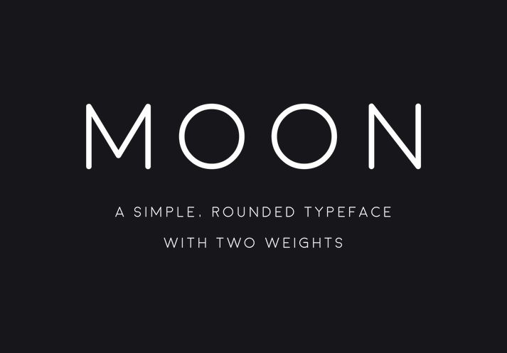 Moon - Rounded Sans-serif - - modern fonts 2015 - the best top font of the year